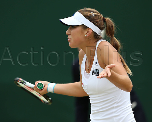 03 07 2013  Wimbledon Championships 2013 AELTC London ITF Grand Slam Tennis Tournament Juniors Competition Belinda Bencic SUI shows her frustration in the Direction of her team manager