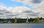 The churches of Mahone Bay, N.S. Images of The Canadian Maritime Provinces of Nova Scotia and Prince Edward Island.