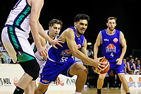 Shea Ili in action during the national basketball league match between Cigna Wellington Saints and Southern Huskies at TSB Bank Arena in Wellington, New Zealand on Friday, 19 April 2019. Photo: Mike Moran / lintottphoto.co.nz