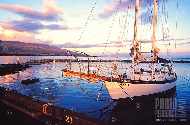 Boat docked at Kaunakakai, Molokai