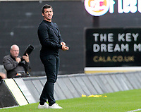 Fleetwood Town Manager Joey Barton looks on from the sidelines<br /> <br /> Photographer David Shipman/CameraSport<br /> <br /> The EFL Sky Bet League One - Oxford United v Fleetwood Town - Saturday August 11th 2018 - Kassam Stadium - Oxford<br /> <br /> World Copyright &copy; 2018 CameraSport. All rights reserved. 43 Linden Ave. Countesthorpe. Leicester. England. LE8 5PG - Tel: +44 (0) 116 277 4147 - admin@camerasport.com - www.camerasport.com