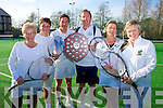 Tralee tennis club: The team of Roberta Kneeshaw, Jack Stack, Mick Walsh, John Finnegan, Charlotte Lucid, Siobhan O'Nulain Winners of the Munster Winter League Mixed Doubles Grade 6. Held in Sunday's Well on Sunday April 14th