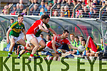 Michael Geaney Kerry in action against Kevin O'Driscoll Cork in the National Football League at Pairc Ui Rinn, Cork on Sunday.