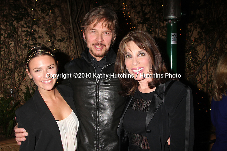 Elizabeth Hendrickson, Stephen Nichols, & Kate Linder.at the Eric Braeden's 30th Anniversary on The Young & The Restless Cocktail Reception .Pane e Vino Resturant.Los Angeles, CA.February 3, 2010.©2010 Kathy Hutchins / Hutchins Photo..Publicist & Braeden Approved....