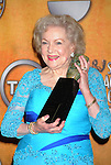 LOS ANGELES, CA. - January 23: Betty White  poses in the press room at the 16th Annual Screen Actors Guild Awards held at The Shrine Auditorium on January 23, 2010 in Los Angeles, California.