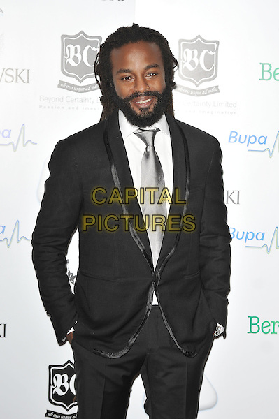 John Forte.'Global Angels Awards', The Park Plaza Hotel, Westminster, London, England. 2nd December 2011..half length beard facial hair silver tie black suit white shirt .CAP/MAR.© Martin Harris/Capital Pictures.