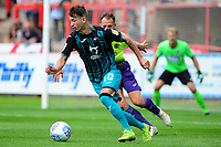 Bersant Celina of Swansea City in action during the pre season friendly match between Exeter City and Swansea City at St James Park in Exeter, England, UK. Saturday, 20 July 2019