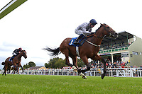 Winner of The Irish Yearling Sales Nursery Handicap Stakes Headland ridden by Oisin Murphy and trained by Martyn Meade during the Bathwick Tyres & EBF Race Day at Salisbury Racecourse on 6th September 2018