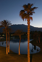Doral Desert Princess Resort at night. Palm Springs, CA