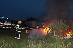 One unit from Drogheda Fire service attended a caravan fire in mornington late on Sunday Evening..Pic Fran Caffrey/newsfile.ie