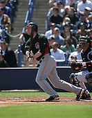 Jason Bay of the Pittsburgh Pirates vs. the New York Yankees March 18th, 2007 at Legends Field in Tampa, FL during Spring Training action.  Photo copyright Mike Janes Photography 2007.