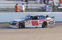 May 2, 2008; Richmond, VA, USA; NASCAR Sprint Cup Series driver Dale Earnhardt Jr during qualifying for the Dan Lowry 400 at the Richmond International Raceway. Mandatory Credit: Mark J. Rebilas-US PRESSWIRE