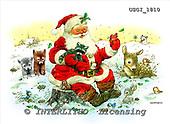 GIORDANO, CHRISTMAS SANTA, SNOWMAN, WEIHNACHTSMÄNNER, SCHNEEMÄNNER, PAPÁ NOEL, MUÑECOS DE NIEVE, paintings+++++,USGI1810,#X#