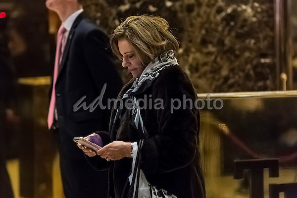 National security specialist KT McFarland is seen in the lobby of Trump Tower in New York, NY, USA on January 3, 2017. Photo Credit: Albin Lohr-Jones/CNP/AdMedia