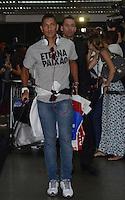 SAO PAULO, SP, 21 FEVEREIRO 2013 - Ralf   no desembarque da equipe do Corinthians após partida contra o San Jose da Bolivia valioda pela taca Libertadores da America, no aeroporto de Cumbica , em Guarulhos. nesta quarta feira 21. (FOTO: ALAN MORICI / BRAZIL PHOTO PRESS).