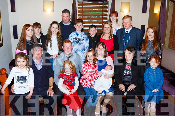 Little Roisin O'Connor who celebrated her christening with her parents Michael and Bridget big sisters Niamh and Brid and family in Kaynes restaurant on Saturday