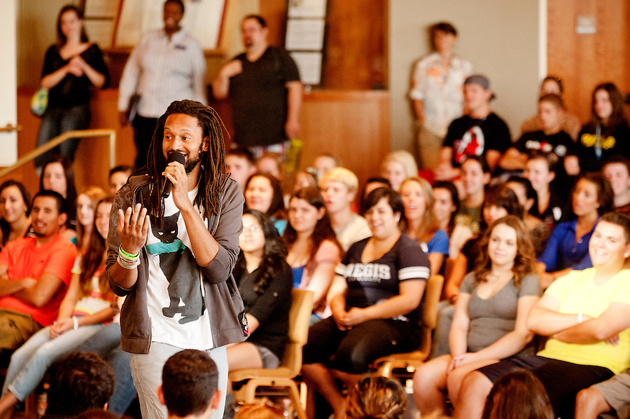 Freshman seminar community experience, featuring the Flobots