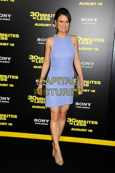 "Mary Lynn Rajskub.""30 Minutes or Less"" World Premiere held at Grauman's Chinese Theatre, Hollywood, California, USA..August 8th, 2011.full length purple sleeveless dress gold shoes clutch bag.CAP/ADM/BP.©Byron Purvis/AdMedia/Capital Pictures."