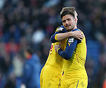 Arsenal's Olivier Giroud celebrates at the final whistle<br /> <br /> Barclays Premier League - Crystal Palace  vs Arsenal  - Selhurst Park - England - 21st February 2015 - Picture David Klein/Sportimage
