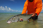 HAND HELD BONEFISH IN VENEZUELA