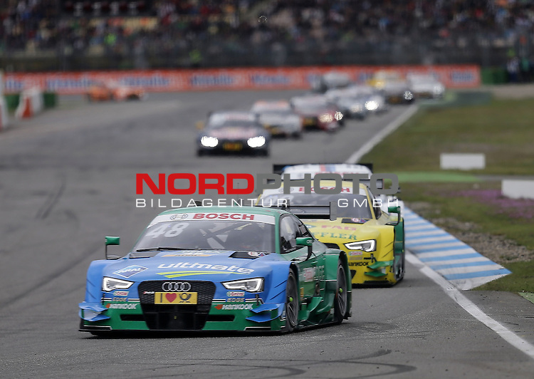 DTM 2015, 01.Lauf Hockenheimring, 01.05. - 03.05.15 <br /> Edoardo Mortara (ITA#48) Audi Sport Team Abt Audi RS 5 DTM , Mike Rockenfeller (DEU#99) Audi Sport Team Phoenix Audi RS 5 DTM <br /> <br /> <br /> <br /> Foto &copy; nordphoto /  Bratic