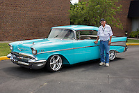 1957 Trailered Custom Junior (#84) – 1957 Chevrolet Bel AIr 2-Door Hardtop registered to Wayne Bruffey is pictured during 4th State Representative Chevy Show on Thursday, June 30, 2016, in Fort Wayne, Indiana. (Photo by James Brosher)