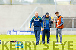 Offaly manager Joachim Kelly at the Joe McDonagh Cup relegation game in Tralee on Saturday.