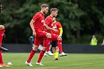 20.07.2019, Heinz-Dettmer-Stadion, Lohne, GER, Interwetten Cup, VfL Osnabrueck vs 1. FC Koeln<br /> <br /> im Bild<br /> Benno Schmitz (Neuzugang Koeln #02), <br /> Louis Schaub (Neuzugang Koeln #13), <br /> beim Aufwärmen, <br /> <br /> Foto © nordphoto / Ewert