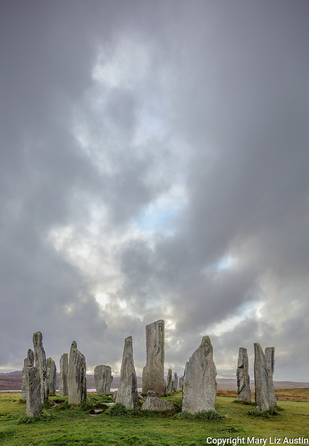 Isle of Lewis and Harris, Scotland: Storm clouds at Callanish Standing Stones