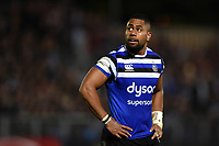 Joe Cokanasiga of Bath Rugby looks on during a break in play. Gallagher Premiership match, between Bath Rugby and Exeter Chiefs on October 5, 2018 at the Recreation Ground in Bath, England. Photo by: Patrick Khachfe / Onside Images
