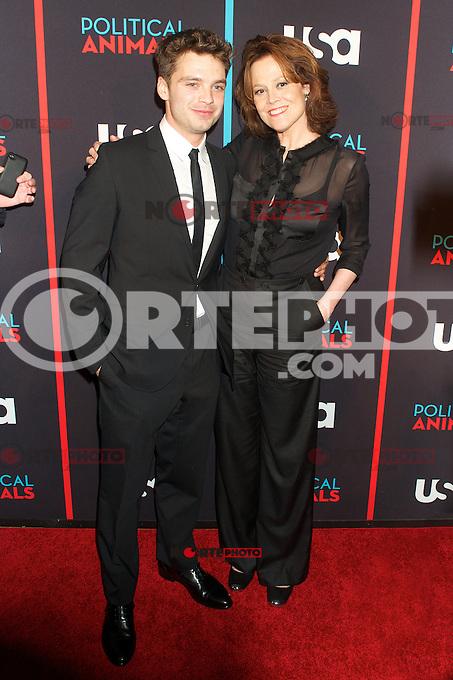 Sebastian Stan and Sigourney Weaver at the screening of USA Network's 'Political Animals' at the Morgan Library & Museum in New York City. June 25, 2012. ©Ronald Smits/MediaPunch Inc. *NORTEPHOTO* **SOLO*VENTA*EN*MEXICO** **CREDITO*OBLIGATORIO** **No*Venta*A*Terceros** **No*Sale*So*third** *** No*Se*Permite Hacer Archivo** **No*Sale*So*third** *Para*más*información:*email*NortePhoto@gmail.com*web*NortePhoto.com*