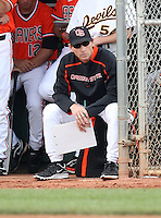 Pat Casey, head coach - Oregon State, playing in the 8th annual Coca Cola Classic at Surprise Recreational Complex, Surprise, AZ - 03/03/2010 - 03/06/2010.Photo by:  Bill Mitchell/Four Seam Images.