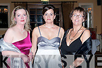 SOCIAL: Enjoying the Tralee Bay Sailing Club annual dinner dance at the Ballygarry House hotel on Saturday l-r: Elma Mulrooney, Jane Deasy and Mary Harrington all from Tralee.