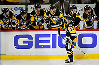 May 29, 2017: Pittsburgh Penguins left wing Conor Sheary (43) celebrates a first period goal with teammates during game one of the National Hockey League Stanley Cup Finals between the Nashville Predators  and the Pittsburgh Penguins, held at PPG Paints Arena, in Pittsburgh, PA.   Eric Canha/CSM