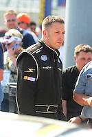May 2, 2008; Richmond, VA, USA; NASCAR Nationwide Series driver Andy Ponstein during the Lipton Tea 250 at the Richmond International Raceway. Mandatory Credit: Mark J. Rebilas-