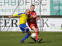 GULLEGEM - HALLE :<br /> duel tussen Thomas Van Ophalvens (L) en Aron Defevere (R)<br /> <br /> Foto VDB / Bart Vandenbroucke