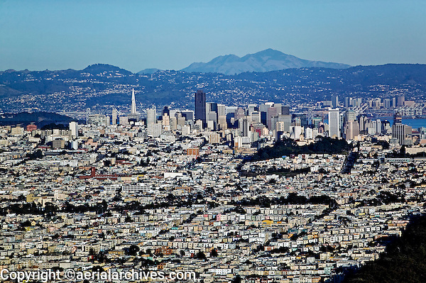 aerial photograph residential neighborhoods San Francisco California
