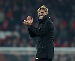 Jurgen Klopp manager of Liverpool during the Premier League match at the Anfield Stadium, Liverpool. Picture date: November 26th, 2016. Pic Simon Bellis/Sportimage