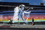 Mural at Vista and Sunset Blvd. in Hollywood on the orignal Guitar Center store circa 1984