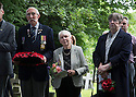 11/06/16<br /> <br /> L/R: Stanley Shaw (cousin), Dorris Innes, (niece) and Sandra Palmer (cousin).<br /> <br /> One hundred years have passed since Private Charles Gordon Shaw was fatally wounded in the Battle of the Somme, but today is the first day his family have been able to grieve at his graveside.<br /> <br /> Full Story: https://fstoppressblog.wordpress.com/private_charles_shaw/<br /> <br /> <br /> That&rsquo;s because his grave was &ldquo;lost&rdquo; during a changeover in church vicars and when the Commonwealth War Graves Commission tried to place a headstone on his plot in 1926, the new vicar was unable to tell them where the body was buried.<br /> <br /> But today, thanks to detective work by his  niece, 83-year-old Dorris Innes from Spondon, together with an amateur historian who located the &lsquo;lost&rsquo; grave, Private Shaw&rsquo;s family were finally able to pay their respects to the war hero, with a commemorative service at his grave, exactly 100 years to the day since he was buried at Christ Church in Stonegravels, Chesterfield.<br /> <br /> All Rights Reserved, F Stop Press Ltd.