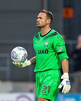 Goalkeeper Craig Ross of Barnet during the 2017/18 Pre Season Friendly match between Barnet and Swansea City at The Hive, London, England on 12 July 2017. Photo by Andy Rowland.