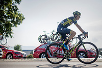 Jens Keukeleire (BEL/Orica Scott) making his way to the start<br /> <br /> stage 7: Aoste &gt; Alpe d'Huez (168km)<br /> 69th Crit&eacute;rium du Dauphin&eacute; 2017