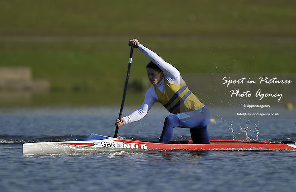 Joe Hayman Joyce. Mens C1 200m Final. Day 2. British Canoeing Sprint Olympic trials. National Water Sports Centre. Holme Pierrepont. Nottingham. UK. 18/04/2016. ~ MANDATORY Credit Garry Bowden/Sportinpictures - NO UNAUTHORISED USE - 07837 394578