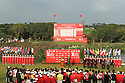The closing ceremony of the Omega Mission Hills World Cup played at The Blackstone Course, Mission Hills Golf Club on November 27th in Haikou, Hainan Island, China.( Picture Credit / Phil Inglis )