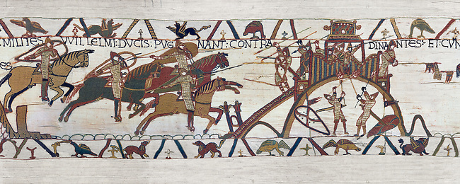 Bayeux Tapestry Scene 19 - Normans attack Dinan
