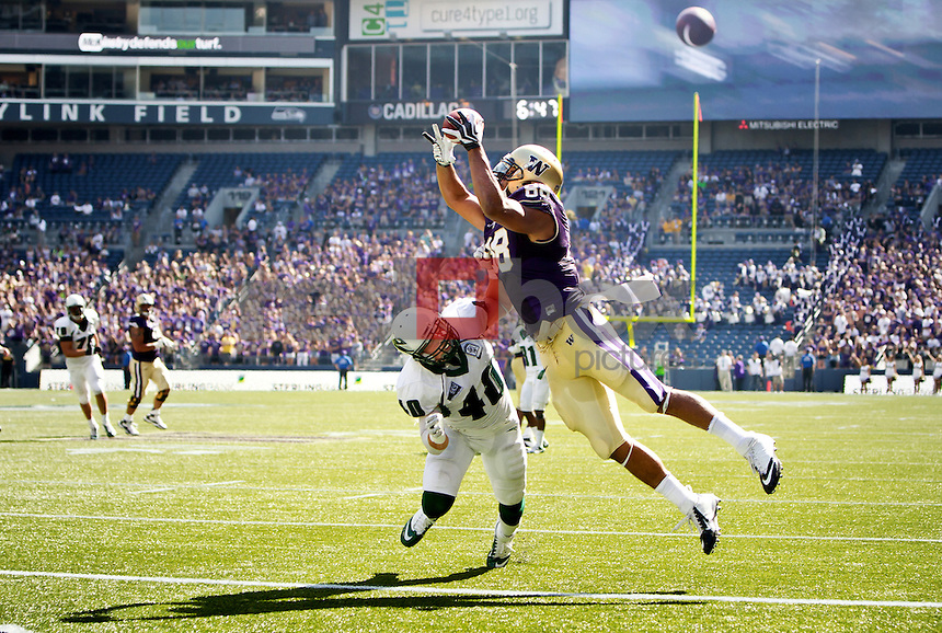 Austin Seferian-Jenkins.The University of Washington football team defeats Portland State 52-13 at Century Link Stadium in Seattle on Saturday September 15, 2012. (Photography By Scott Eklund/Red Box Pictures)