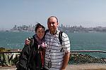 Brian and Allison at Alcatraz in San Francisco, California. (Photo by Brian Garfinkel)