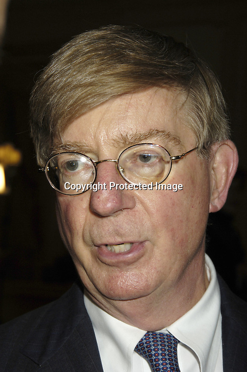 George Will..at The  Joe Torre Safe at Home Foundation's 3rd Annual Gala on November 18, 2005 at The Pierre Hotel.The Foundation is dedicated to stemming domestic violence...Photo by Robin Platzer, Twin Images
