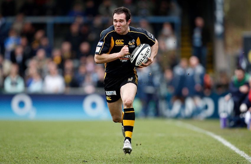 Photo: Richard Lane/Richard Lane Photography. .London Wasps v Bristol Rugby. Guinness Premiership. 23/02/3008. Wasps' David Doherty attacks.