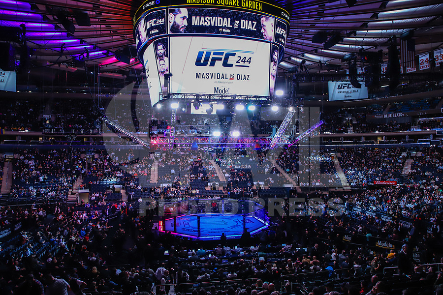 NOVA YORK, EUA, 02.11.2019 - UFC-NOVA YORK -  UFC 244 no Madison Square Garden na cidade de Nova York neste sábado, 02. (Foto: Vanessa Carvalho/Brazil Photo Press/Folhapress)